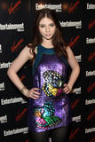 Michelle Trachtenberg in black stockings and short shiny dress at Entertainment Weekly and Vavoom annual upfront party in New York City