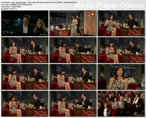 "MARY STEENBURGEN - ""Jimmy Fallon"" (December 12, 2009)"