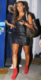 Melanie Brown -Attending  The Celebrity Juice Show In London Leather Bound (10/6)