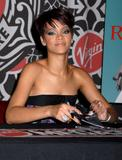Rihanna signs copies of her new CD at Virgin Megastore in New York City