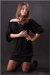 Daria M Model Blackshinydress Teenmodeling Tv 030 Tmtv Daria Pictures ...