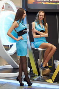 Hostesses in pantyhose